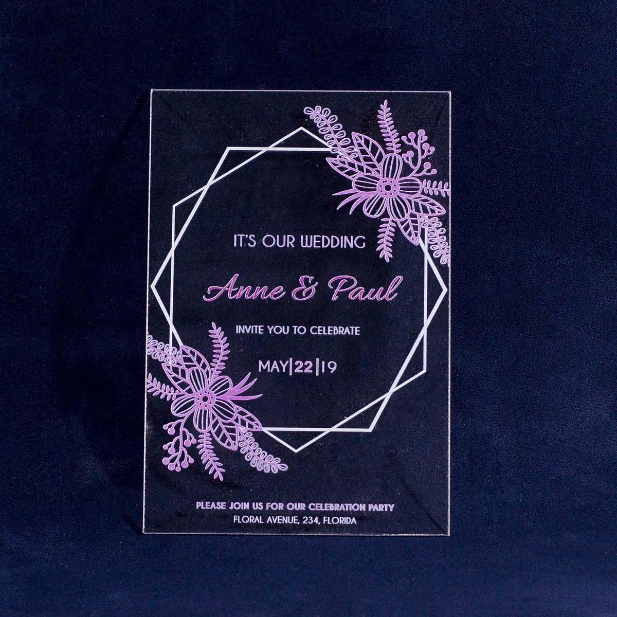 Свадебные приглашения из оргстекла
