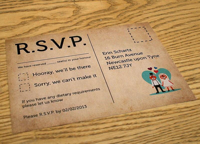 карточка rsvp на свадьбу