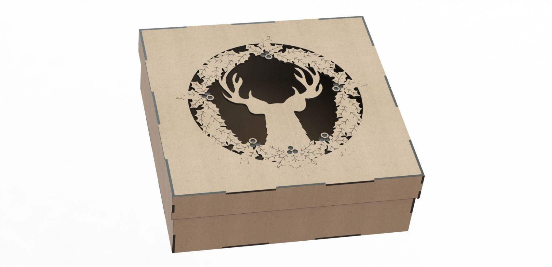 Подарочная коробка на новый год